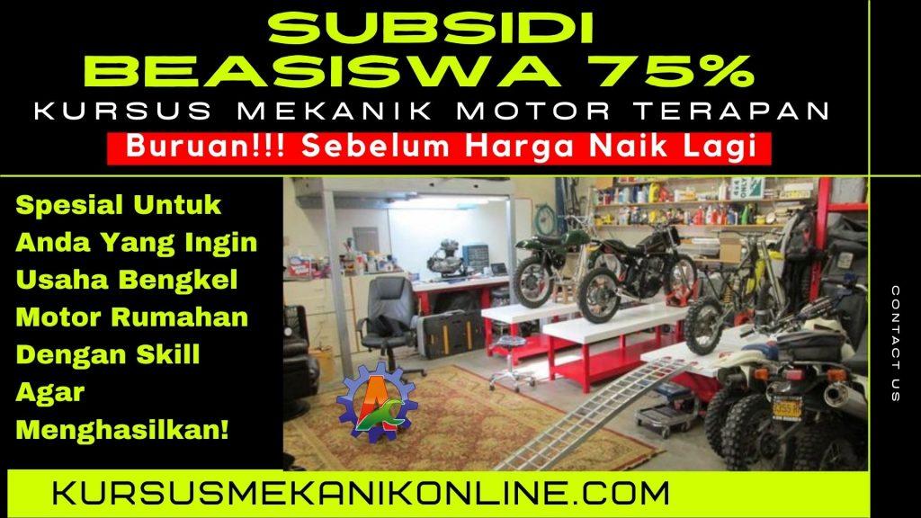kursus mekanik motor. kursus mekanik motor online terapan pertama di Indonesia bagi kami.